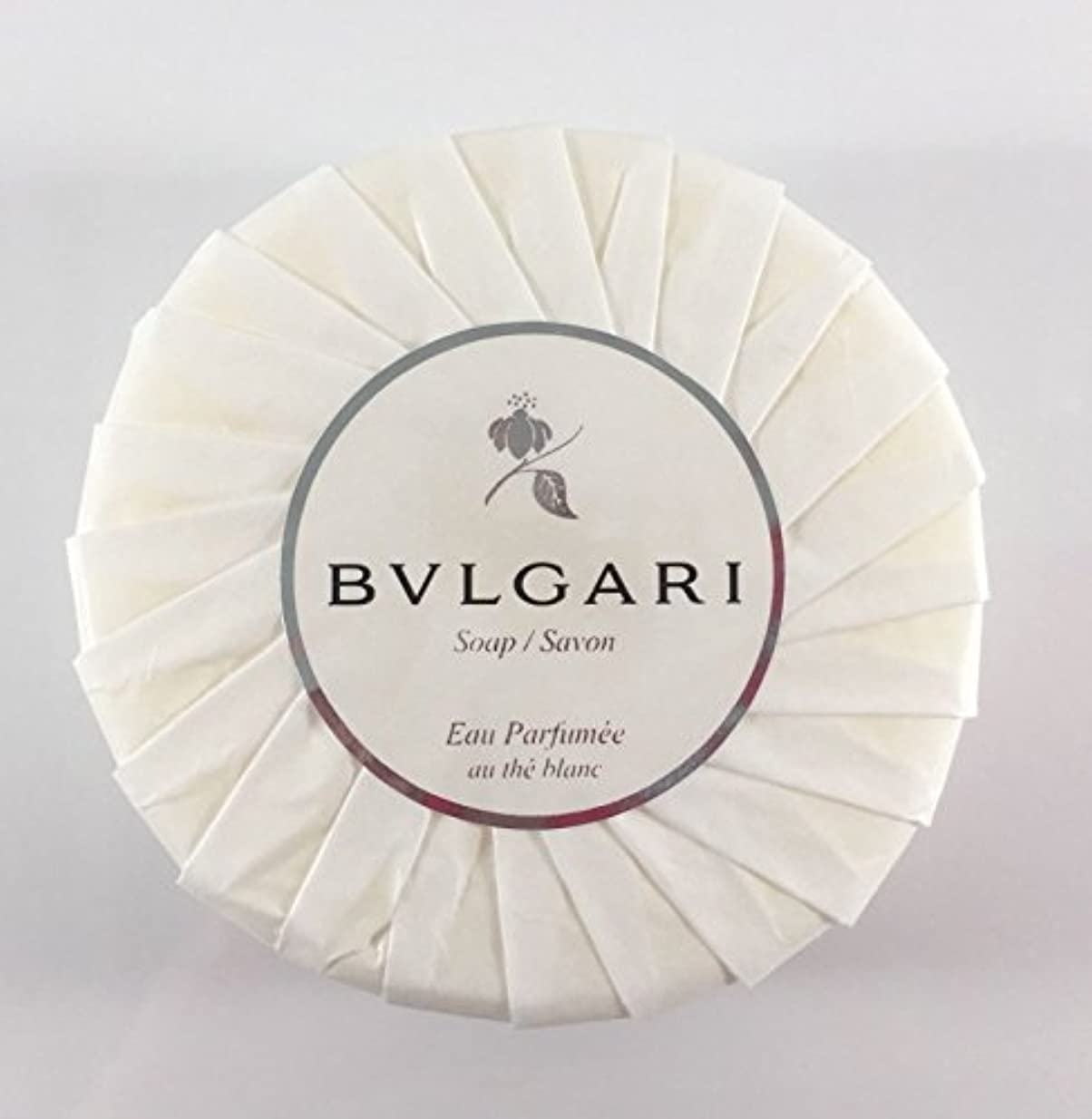 誘う部分権利を与えるブルガリ オ?パフメ オーテブラン デラックスソープ150g BVLGARI Bvlgari Eau Parfumee au the blanc White Soap