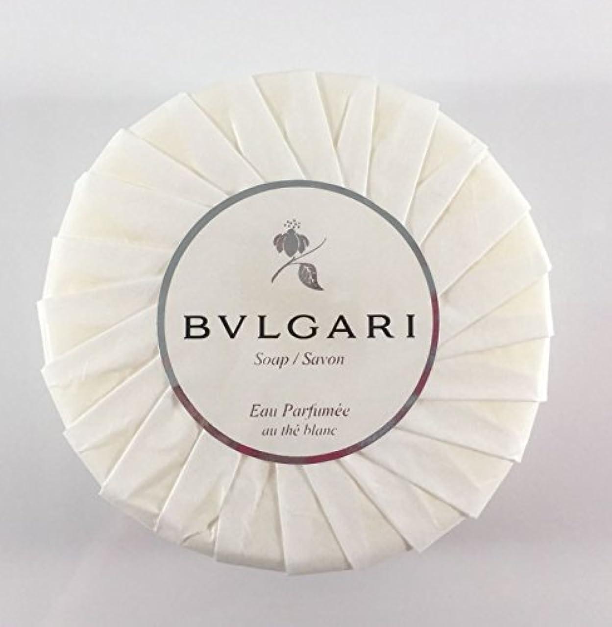 有益分類する過度のブルガリ オ?パフメ オーテブラン デラックスソープ150g BVLGARI Bvlgari Eau Parfumee au the blanc White Soap