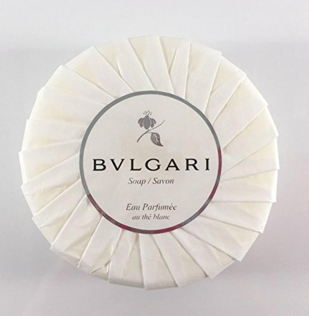 面白いプラス鉱石ブルガリ オ?パフメ オーテブラン デラックスソープ150g BVLGARI Bvlgari Eau Parfumee au the blanc White Soap