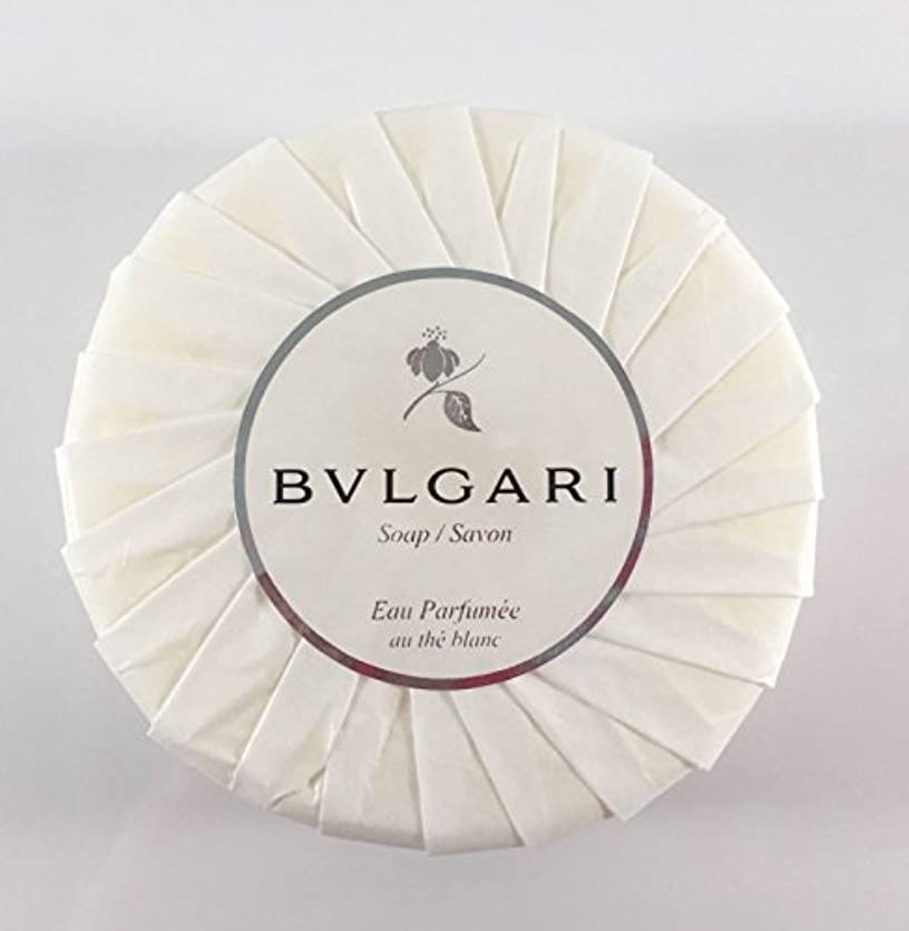 舗装するクッション高価なブルガリ オ?パフメ オーテブラン デラックスソープ150g BVLGARI Bvlgari Eau Parfumee au the blanc White Soap