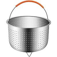 Xixi-colk スチーマーラック フルーツバスケット 野菜バスケット 蒸し器 ポットバスケット ステンレス チームバスケット 多機能フルーツバスケット
