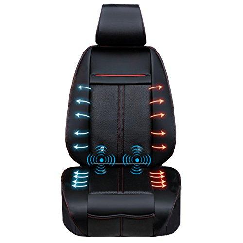 マッサージ&ホット&クールカーシート 静音仕様 3段階調節可能なクール機能&ヒーター機能&マッサージ機能も付いた1年中使える万能カーシートです。