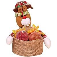 TeFuAnAn クリスマスの装飾 キャンディバスケット デスクトップの装飾 子供のキャンデーの収納バスケット クリスマス バスケット クリスマスプレゼント 可愛い飾り