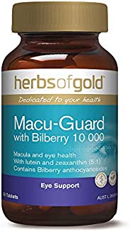 Herbs of Gold Macu Guard with Bilberry 10 000 60 Tablets, 60 count