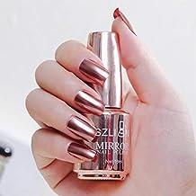 18mlNail Polish,New Gorgeous Mirror Effect Nail Polish, Metallic Lacquer Nail Polish Chrome Nail Art Polish Varnish Nail Polish(12 Colors Can Be Choosen)
