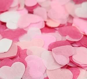 【EDEN】ハート 紙吹雪 ハッピーウェディング ピンク・ライトピンク・スキンピンク・ホワイト 約1500枚 (10~15人分)[E11]
