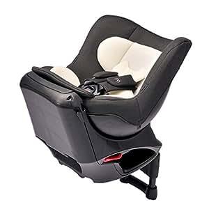 エールベベ 『日本製・安心トリプル保証付』回転型チャイルドシート 360ターンSIII 【シートベルト取付】 新生児から4歳用(360度回転型) ナチュラルブラック ALB802