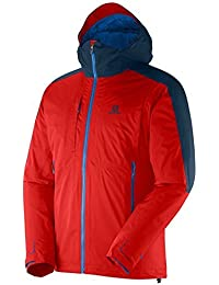 Salomon Cyclone Trekking Jacket - Men's Matador-X / Midnight Blue Medium [並行輸入品]