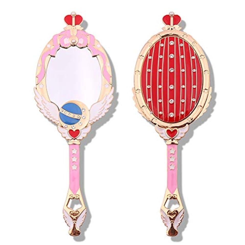 好意間違い素朴なCreacom 化粧鏡 ハンドミラー 手鏡 携帯ミラー 手持ちミラー 化粧鏡 古風 お姫様 高級感 おしゃれ 鏡 化粧ミラー メイクミラー 化粧道具
