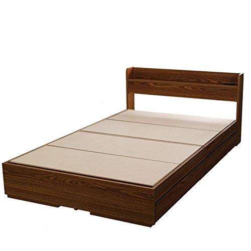 ビックスリー シングルベット 棚 引き出し収納 ベット シングル 収納付き 木製ベッド シングルサイズ コンセント付き 収納ベット 引き出し付きベッド 商品名:エミー(シングルサイズ・フレームのみ) カラー:ウォールナット色