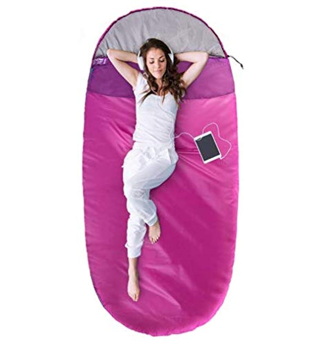 従順便宜狂人春、夏、秋と冬のアウトドアキャンプ厚い暖かいポータブルシングル寝袋1.6キロ (Color : Red, Size : S)