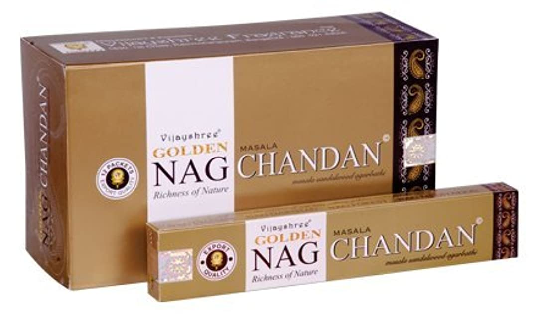 ハム真夜中寛解Vijayshree Golden Nag chandn Incense Sticks 15 g x 12パック