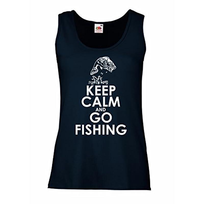 休憩する対角線リネン女性ノースリーブタンク 釣り服、面白い漁師の贈り物、ユーモアの引用