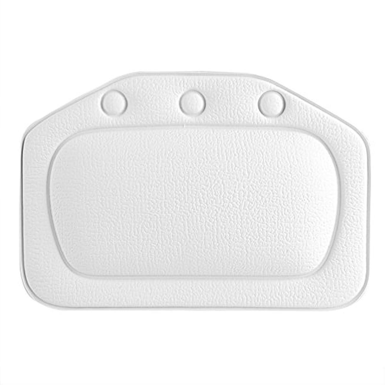 アベニュー暗くする以下スパバスピロー、ソフトフォームパッド付き人間工学に基づいたバスタブクッションピロー浴槽ヘッドレストヘッドネックバッククッションピロー(白)