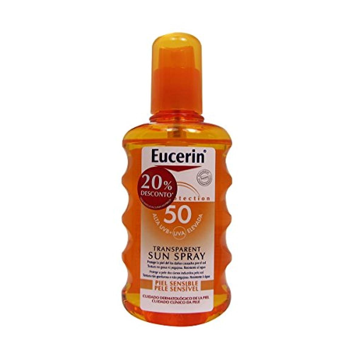 舗装する一晩中央値Eucerin Sun Transparent Spray Spf50 200ml [並行輸入品]