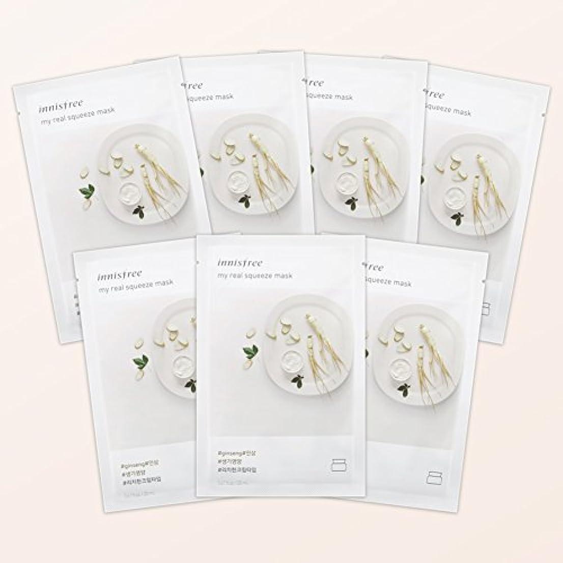 証明リズミカルな割れ目イニスフリー日本公式(innisfree)マイリアル スクイーズ マスクシート GS(高麗人参)[シートパック]7枚セット