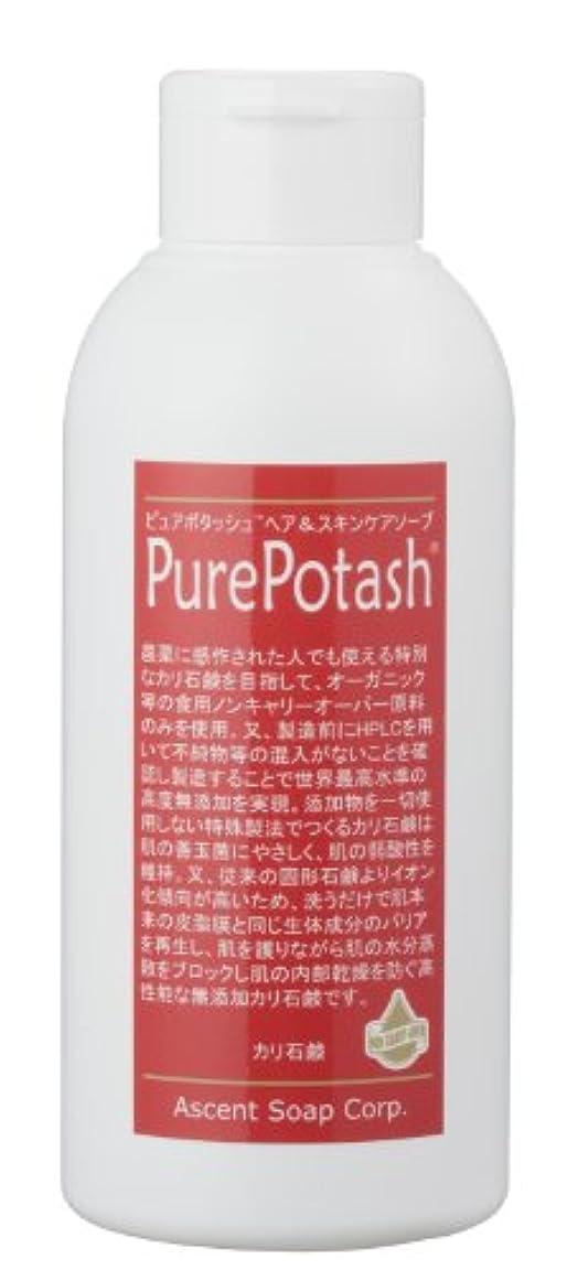 消す教義読者食用の無農薬油脂使用 ピュアポタッシュヘア&スキンケアソープ(しっとりタイプ)250g 3本セット