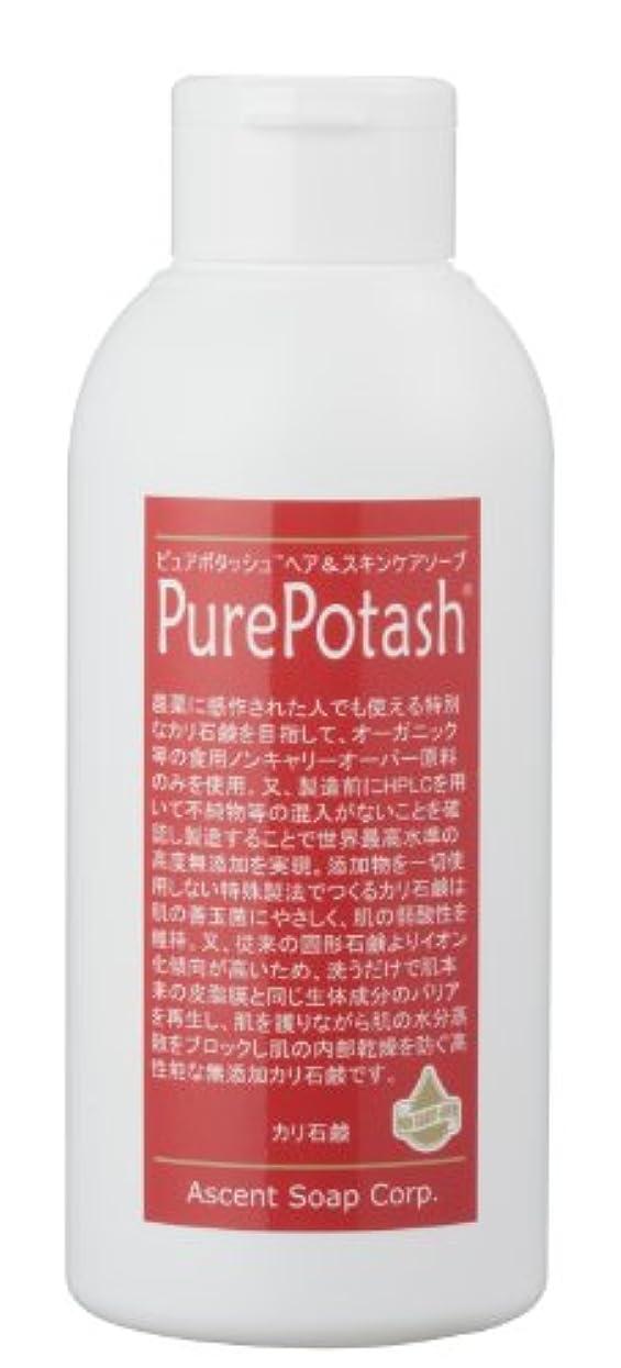 聖域審判ユニークな食用の無農薬油脂使用 ピュアポタッシュヘア&スキンケアソープ(しっとりタイプ)250g 3本セット