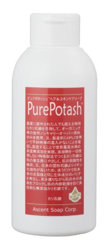 三十衰えるなしで食用の無農薬油脂使用 ピュアポタッシュヘア&スキンケアソープ(しっとりタイプ)250g 3本セット