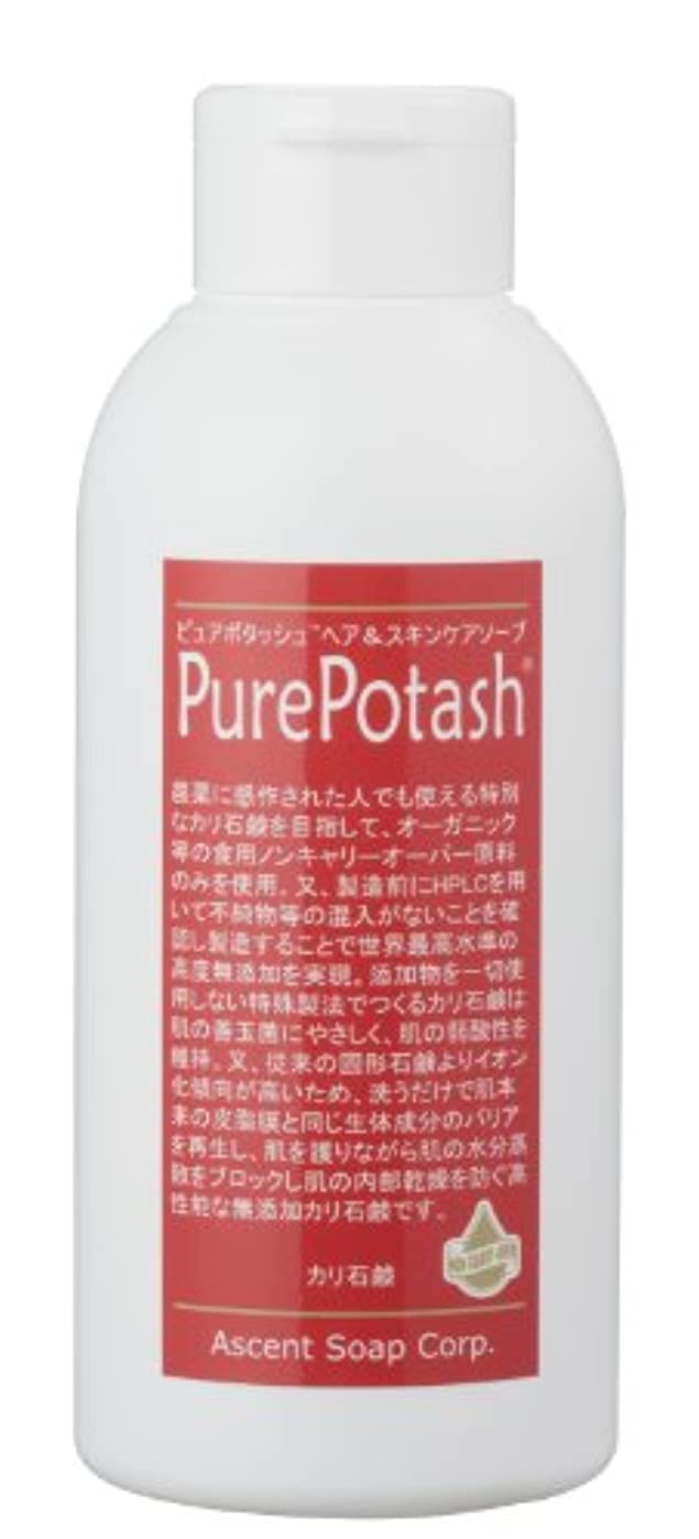 気を散らす勤勉褐色食用の無農薬油脂使用 ピュアポタッシュヘア&スキンケアソープ(しっとりタイプ)250g 3本セット