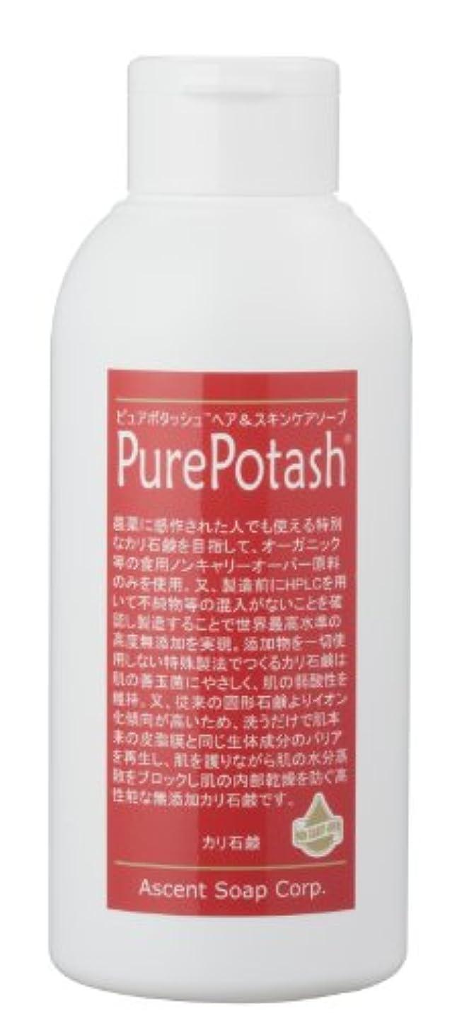 安価なラフト合唱団食用の無農薬油脂使用 ピュアポタッシュヘア&スキンケアソープ(しっとりタイプ)250g 3本セット