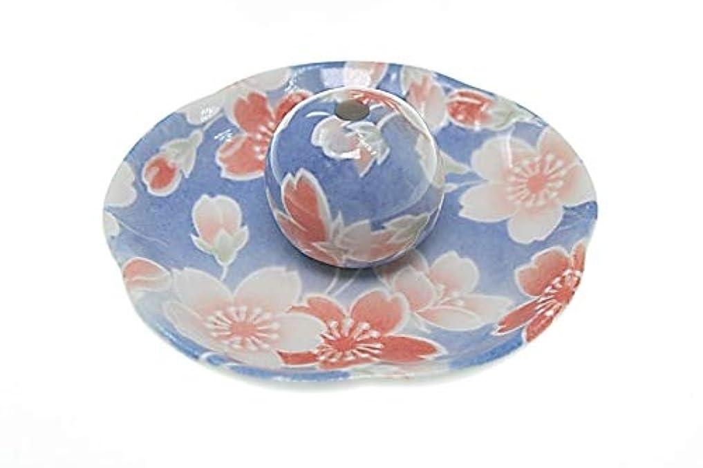 イル盲目チチカカ湖染桜 花形香皿 お香立て お香たて 日本製 ACSWEBSHOPオリジナル
