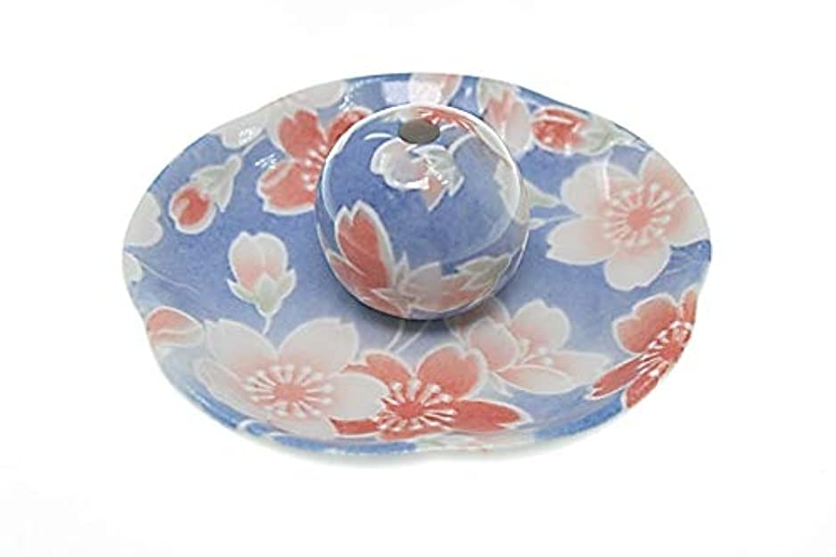 ナンセンス減らす染桜 花形香皿 お香立て お香たて 日本製 ACSWEBSHOPオリジナル