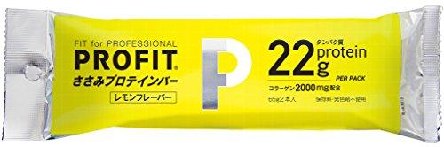 丸善 ささみ PROFIT SaSami (プロフィット) ささみプロテインバー 1箱 レモン風味(20袋入り)(40本入り)
