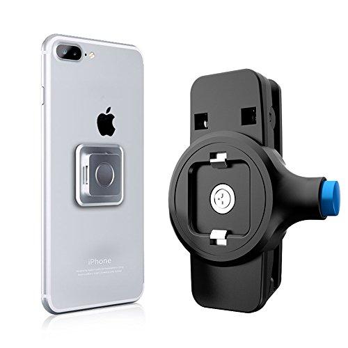 ベルトクリップ Bovon スポーツバンド クリップ式 スポーツ 旅行用 マグネット搭載 iPhone 7/7 Plus/ iPhone6 / 6S/ Samsung Galaxy S8 / S8 Plus、S7 / S7 Edge/ Nexus/ LG/ Radiosに対応 (ベルトクリップ式)