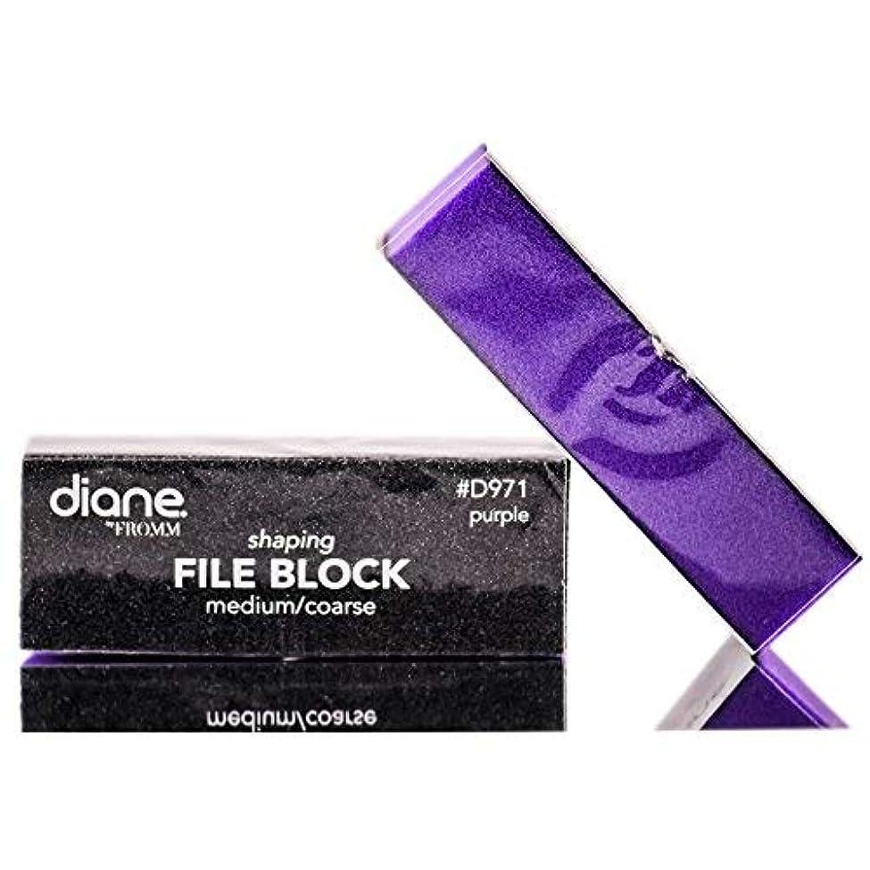 義務付けられた遅らせる理容師Diane Beauty Accessories ダイアンサンディングブロック - メッド/Coarses - パープル