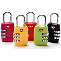 GANA TSA Approved 3 Combination Travel Suitcase Luggage Combination Padlock Number Code Lock Pin for Luggage Suitcases and Travel-in Sealed (5 Pack)