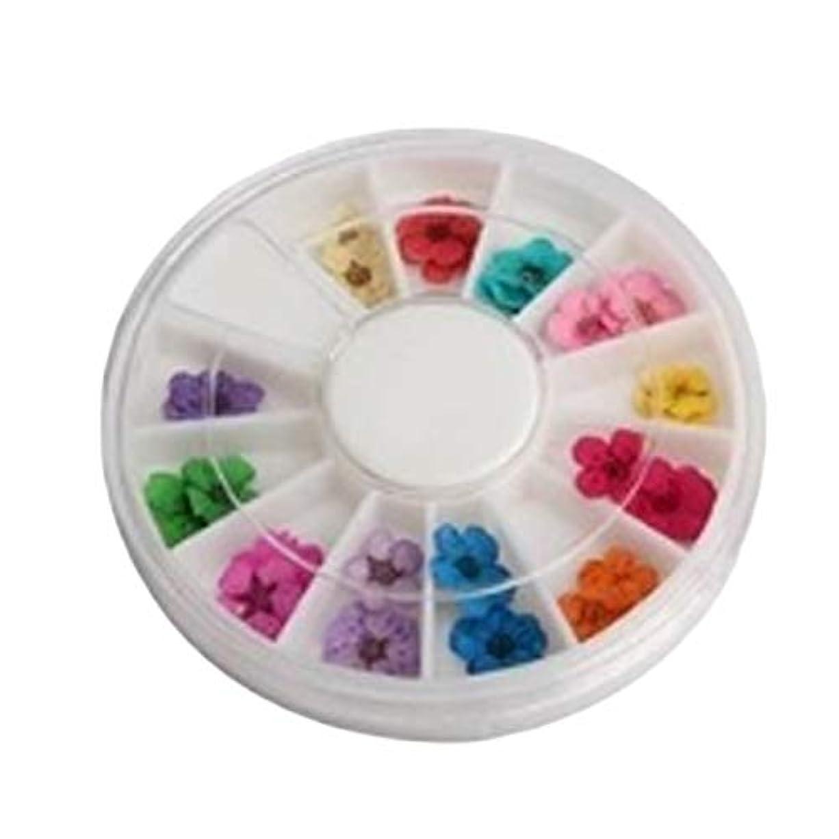 パーティー手つかずの責任OU-Kunmlef スペシャルホイール36 pcsアクリル装飾トレンディなDIYの花の高品質の芸術乾燥釘(None Picture color)