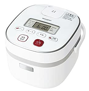 シャープ 炊飯器 0.54Lタイプ ホワイト系 KS-C5H-W