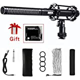 BOYA BY-PVM1000 Condenser Shotgun Microphone 3-pin XLR Output on DSLR Camera for Canon 6D Nikon D800 Sony Panasonic Camcorders Sony Panasonic Camcorders