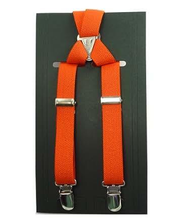 [ピース工房] Peace工房 サスペンダー 21ミリ X型 カジュアル オレンジ