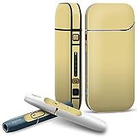 IQOS 2.4 plus 専用スキンシール COMPLETE アイコス 全面セット サイド ボタン デコ その他 シンプル 無地 黄色 008965