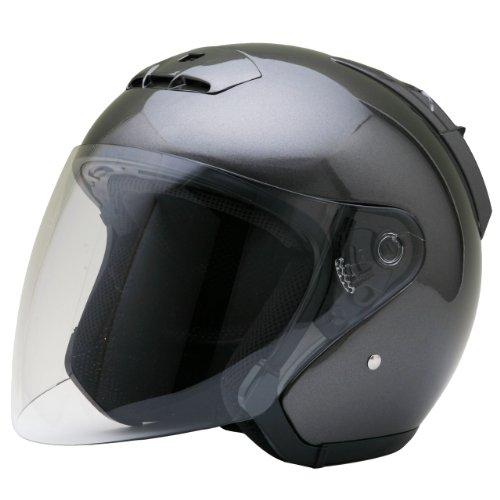 ネオライダース (NEO-RIDERS) SY-5 オープンフェイス シールド付 ジェット ヘルメット ガンメタ Mサイズ 57-58cm SG/PSC SY-5