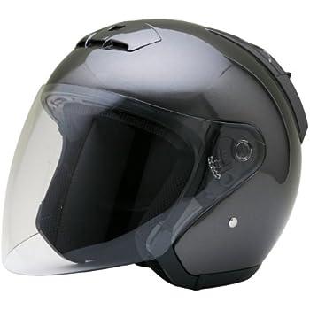 ネオライダース (NEO-RIDERS) SY-5 オープンフェイス シールド付 ジェット ヘルメット ガンメタ XXLサイズ 63-64cm未満 SG/PSC SY-5