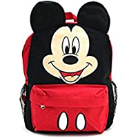 "Mickey Mouse Happy Face 3D Ears 16"" Large Backpack School Bag"