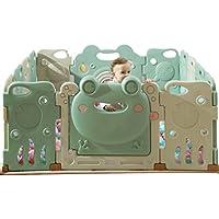 ベビーケア子供の屋内プレイフェンスベビーベビー幼児クロールフェンスホーム安全遊び場 (Color : 白, Size : 110 * 110cm)