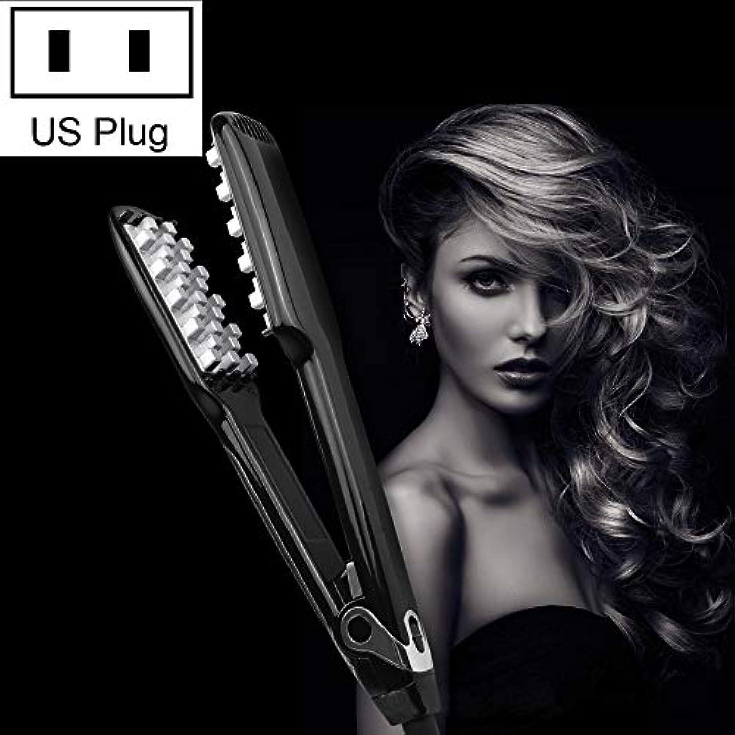 各うそつき二年生WTYD 美容ヘアツール WT042 150 Wデジタルディスプレイ自動ヘアカーラー副木、米国プラグ (色 : Black)