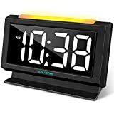 ANJANK Digital Alarm Clock for Bedrooms, Dual USB Charger Ports, Large Numbers Electronic Display with Dimmer, Big Night Light, Easy to Set, Compact Basic Clock for Desk,Nightstand, Battery Backup