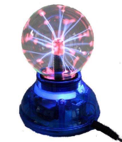 USB プラズマボール サンダーボール スケルトンブルー 科学おもちゃ パソコンアクセサリ D014