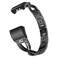 Runcircle 時計ベルド 時計バンド ウォッチバンド 腕輪 Fitbit Charge 2 合金 ブレスレット 交換用 腕時計アクセサリー