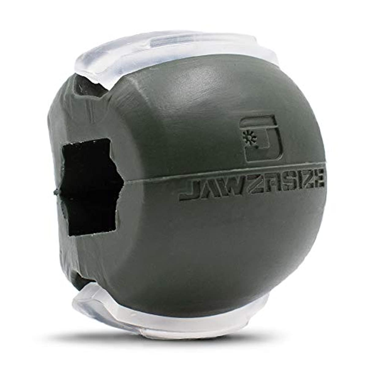 しがみつくジョージバーナード肥料Jawzrsize フェイストナー、ジョーエクササイザ、ネックトーニング装置 (50 Lb. 抵抗) レベル3 - ミリタリーグリーン