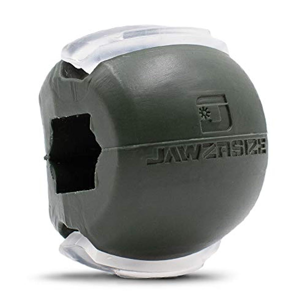 世界記録のギネスブックインシデントパッケージJawzrsize フェイストナー、ジョーエクササイザ、ネックトーニング装置 (50 Lb. 抵抗) レベル3 - ミリタリーグリーン