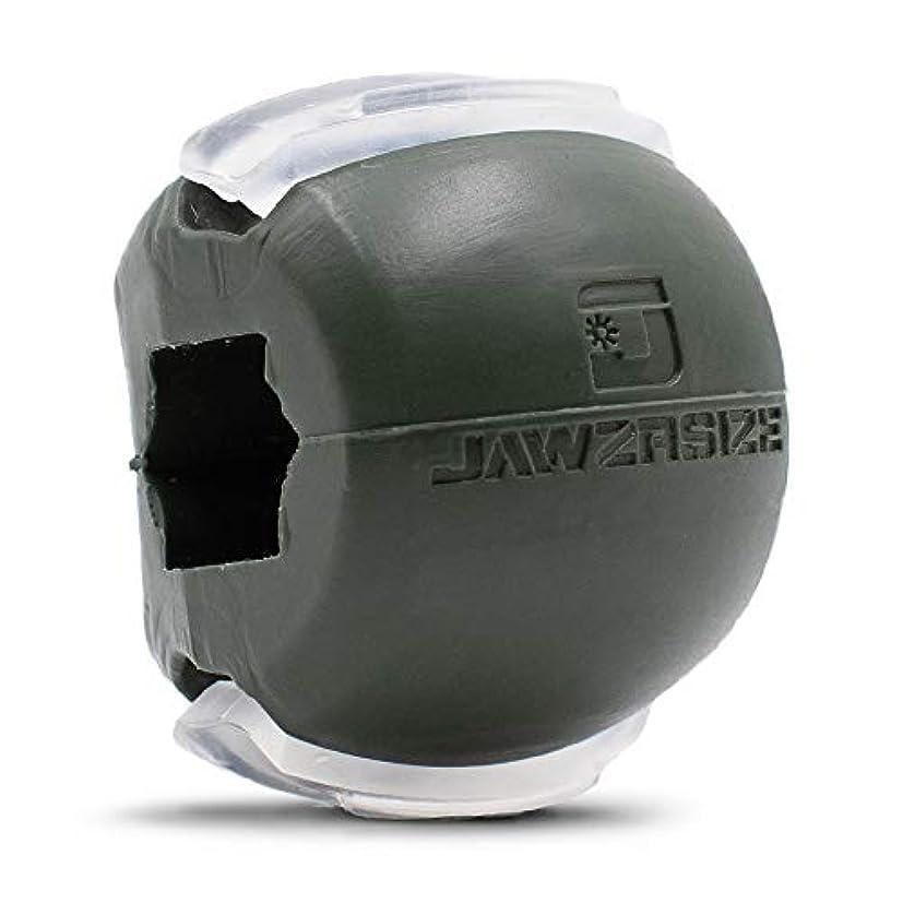 感謝している冗談で面白いJawzrsize フェイストナー、ジョーエクササイザ、ネックトーニング装置 (50 Lb. 抵抗) レベル3 - ミリタリーグリーン