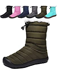 SIXSPACE スノーシューズ メンズ 保暖 スノーブーツ 防寒 アウトドアシューズ 防水 ウォーキングシューズ 雪靴 カジュアル トレッキングシューズ 防滑