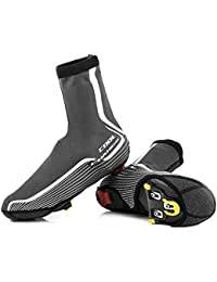Jungles サイクリング オーバーシューズ 冬 防水 オーバーシューズ ロックデザイン 厚く暖かい靴カバー