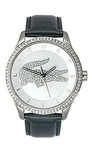 [ラコステ]Lacoste 腕時計 'Victoria' Crystal Logo Leather Strap Watch, 40mm [並行輸入品]